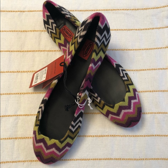 very cheap online Missoni Round-Toe Flats buy cheap factory outlet buy cheap free shipping best online 67sEqON7T9